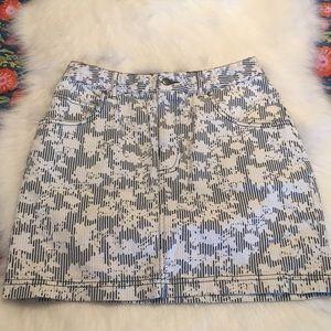Urban Outfitters railroad stripe floral mini skirt